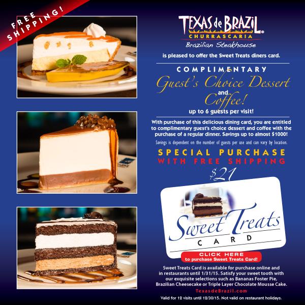 Texas De Brazil Coupons Printable Codes Online December