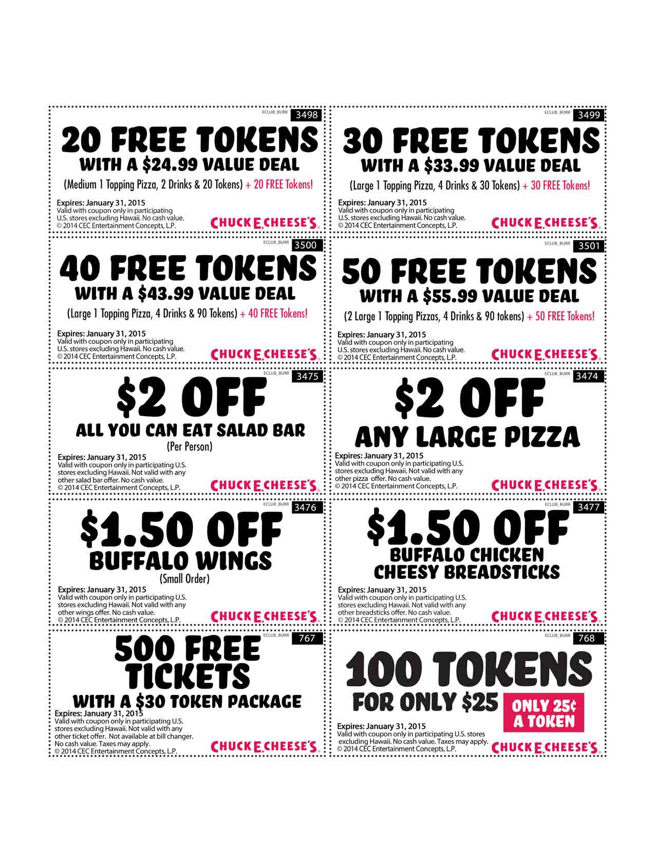 Chuck E Cheese Coupons Printable Coupon Codes December 2020 Takecoupon Com