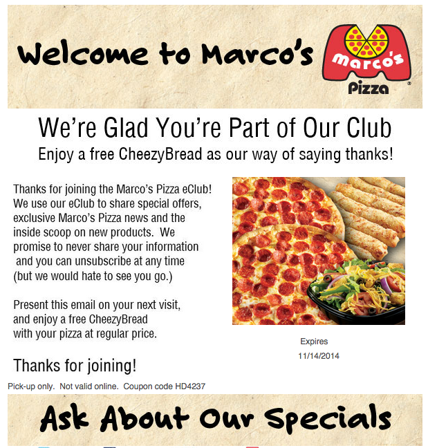 picture regarding Marco's Pizza Printable Coupons called Marcos Pizza Coupon Codes, printable discount codes May possibly 2019