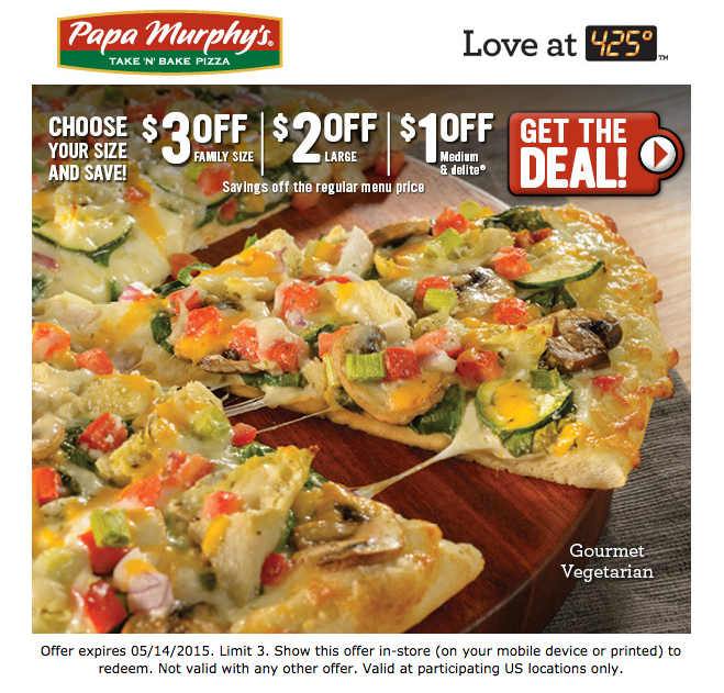 image about Papa Murphy's $3 Off Printable Coupon called Papa Murphys Discount coupons, printable coupon codes on-line August