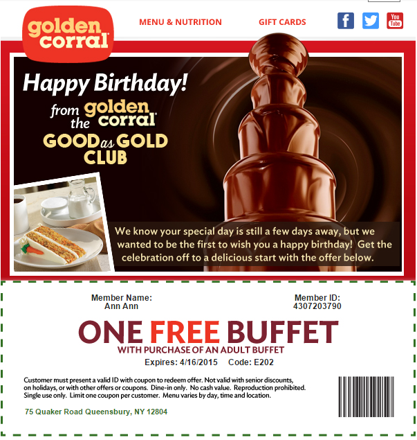 Golden corral discount coupons 2019