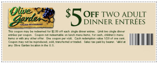 Olive Garden Coupons Printable Code For Restaurant Lunch December 2020 Takecoupon Com