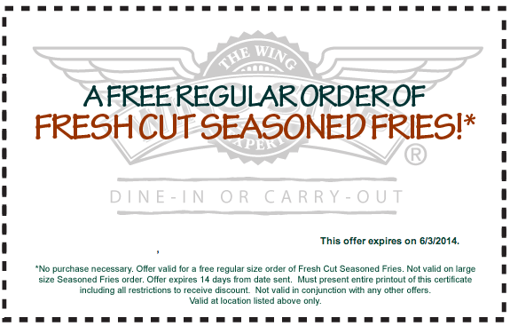 photo relating to Wingstop Coupons Printable named Wingstop coupon codes printable codes August 2019