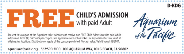 Aquarium Of The Pacific Coupons Printable Code Long