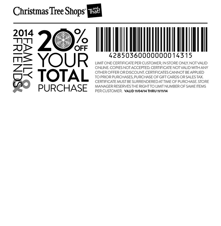 image relating to Christmas Tree Shoppe Printable Coupons called Xmas Tree Keep Coupon codes, codes, printable discounted May perhaps