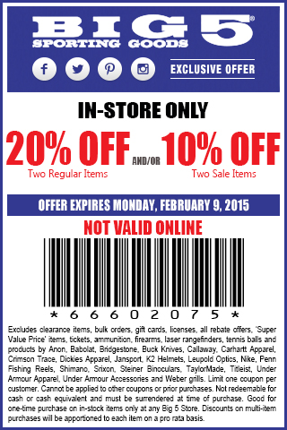go to deal big 5 coupon codes or printable