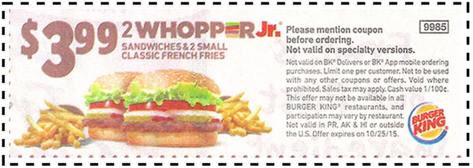 Burger king coupons 2019 download