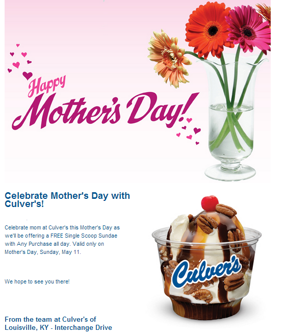 picture about Culver's Printable Coupons identify Culvers coupon codes, printable code Could 2019