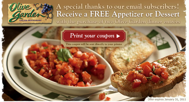 Captivating Olive Garden Coupons Printable Code For Restaurant Lunch July