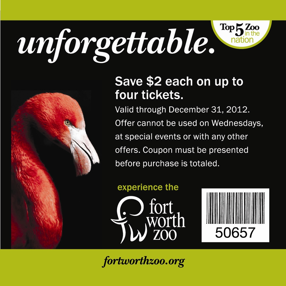 Fort Worth Zoo Coupons Printable Coupon Codes Online January 2019