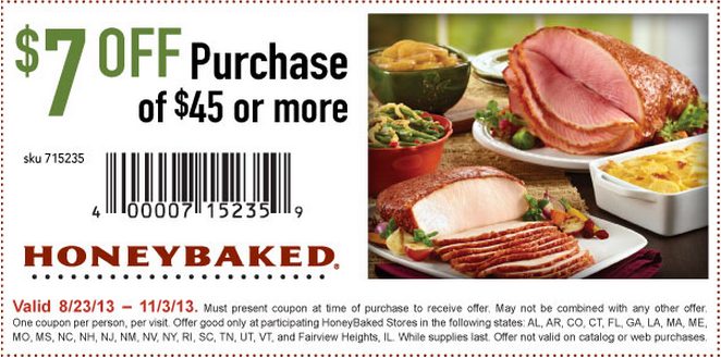 photograph regarding Honey Baked Ham Printable Coupons known as Honey Baked Ham Coupon codes, printable discount coupons August 2019