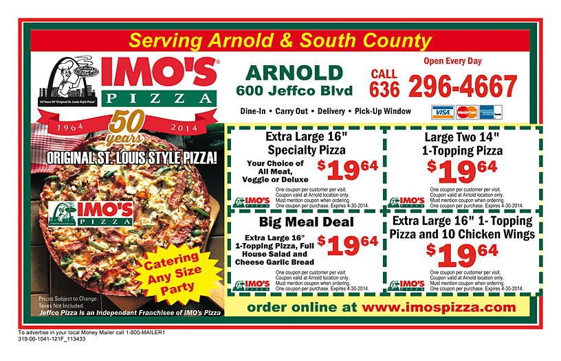 Find your Imo's. Get the store hours, phone number and other helpful information for you Imo's!