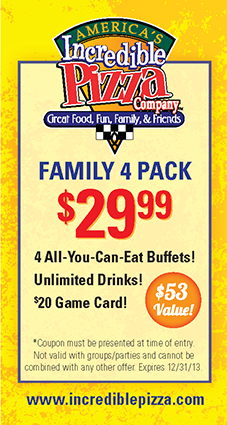 photograph about Incredible Pizza Printable Coupons known as Americas Remarkable Pizza Coupon Codes, printable discount coupons