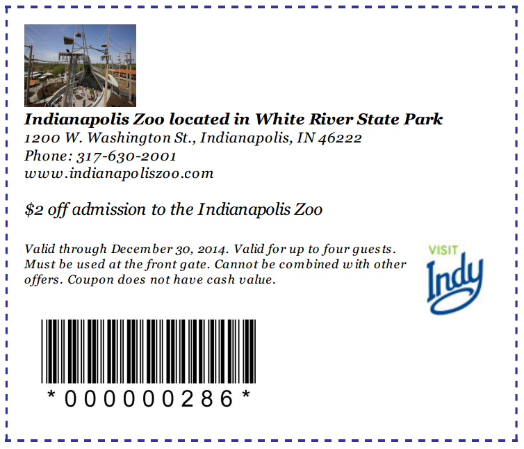 Indianapolis Zoo Coupons Codes Or Printable January 2019