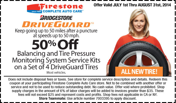 Firestone Coupons Printable Codes Oil Change July 2018