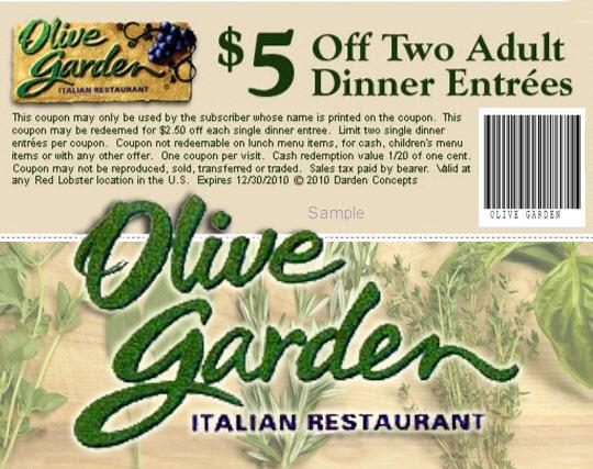 Olive Garden Coupons Printable Code For Restaurant Lunch December 2017