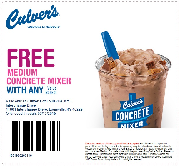 Culvers coupons may 2018