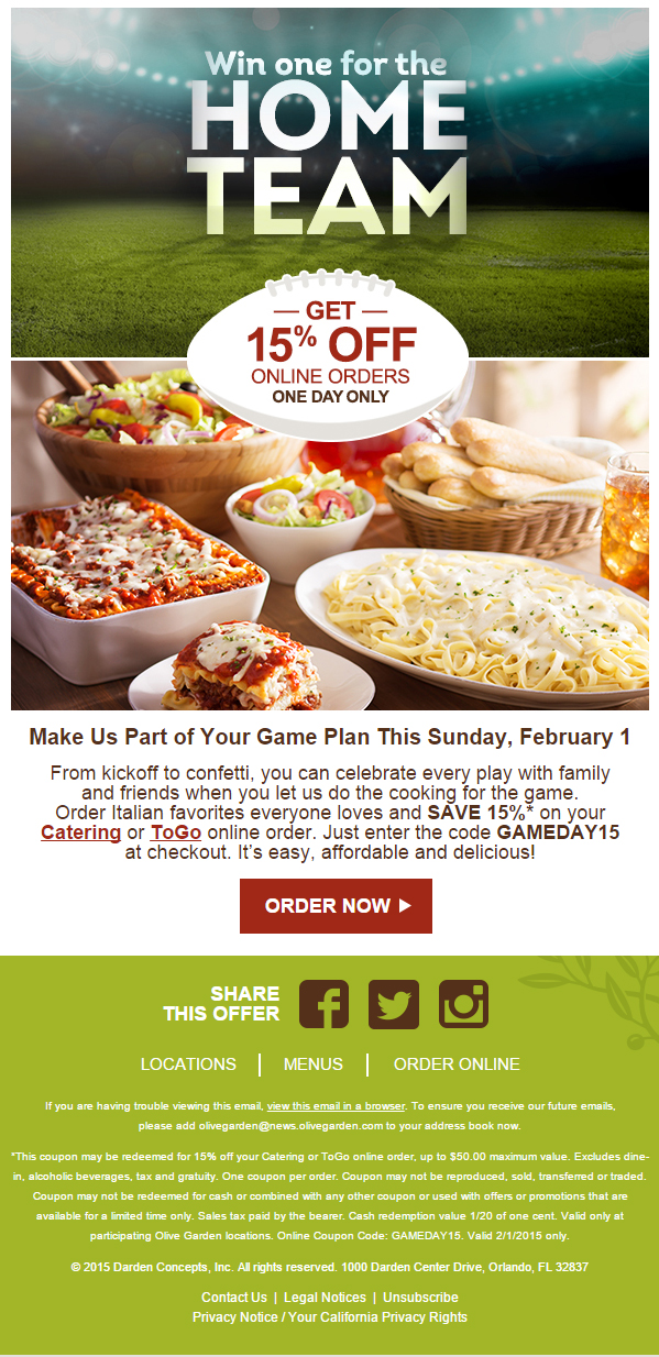 Olive Garden Coupons Printable Code For Restaurant Lunch April