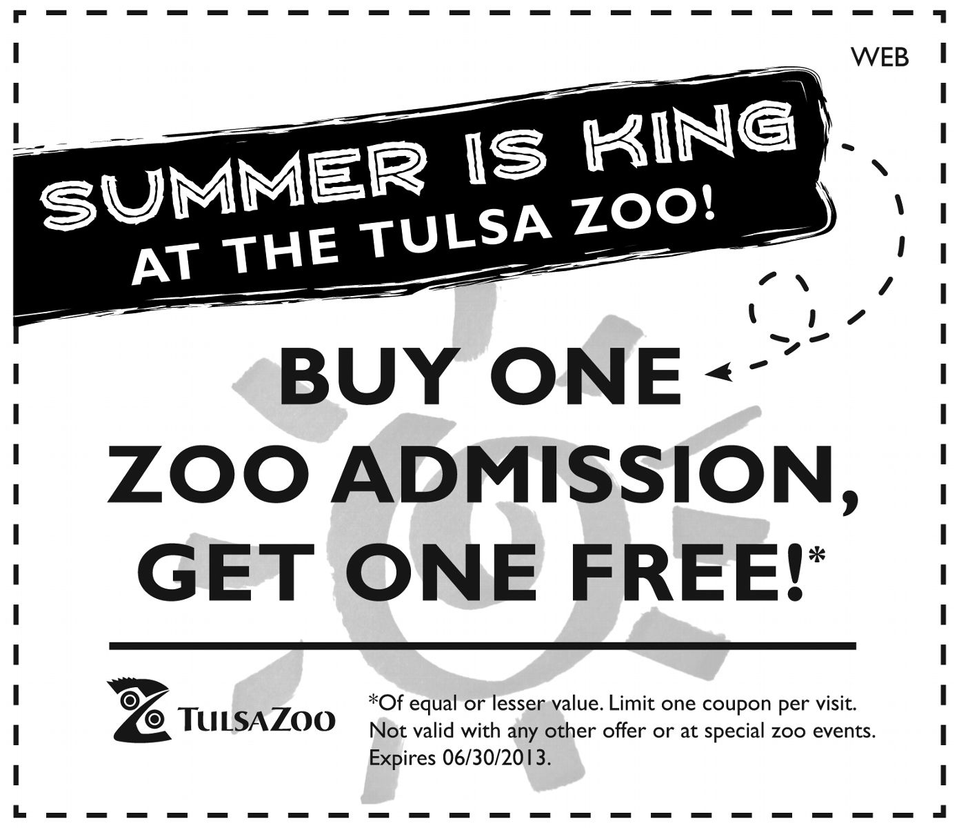 Tulsa Zoo Coupons Codes Printable Promo December 2018